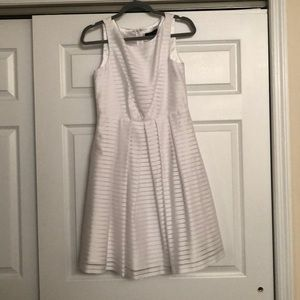 Perfect white  fit and flare style cocktail dress